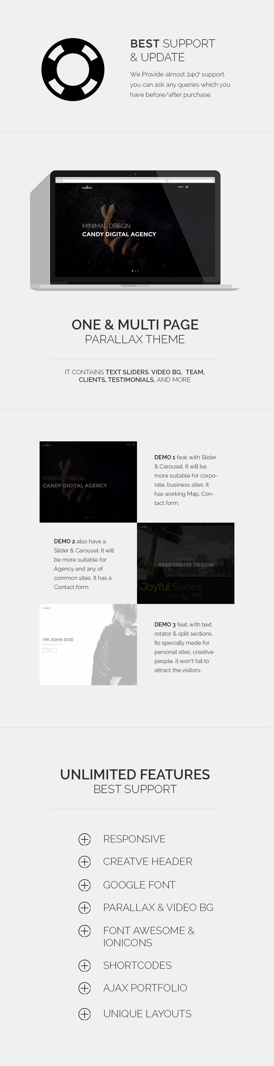 Candy | One & Multi Page HTML