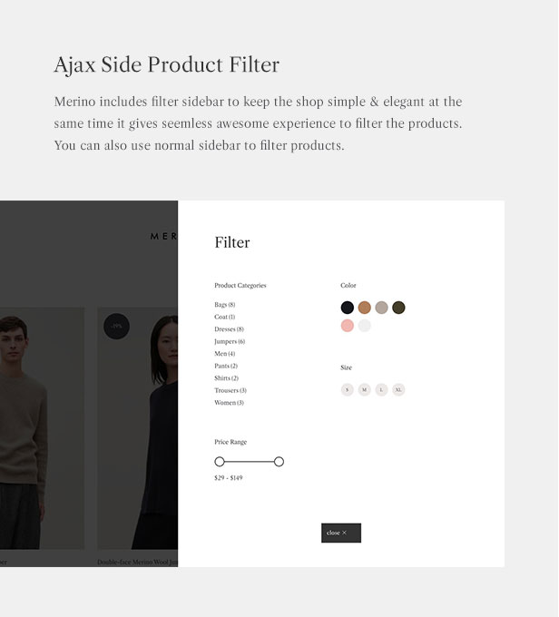 Merino | Modern WooCommerce shop theme for fashion store - 4